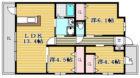 ルネスプチマルシェ - 所在階***階の間取り図 11401