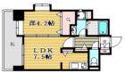 ソシオス平尾 - 所在階10階の間取り図 11408