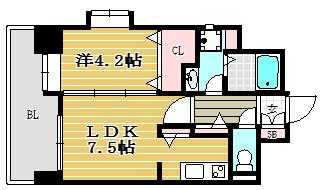 ソシオス平尾1001号室-間取り